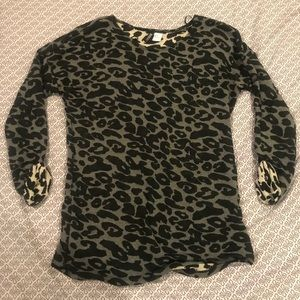 Black and Grey Leopard Sweater